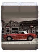 Corvette Cafe - C1 Duvet Cover