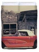 Corvette Cafe - C1 - Vintage Film Duvet Cover