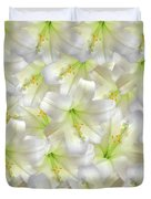 Cotton Seed Lilies Duvet Cover
