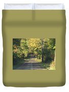 Country Road In Fall Duvet Cover