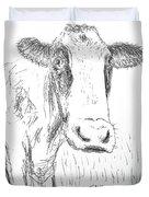 Cow Doodle Duvet Cover by Monique Faella