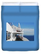 Cozy Walk -  Painterly Ferry To Victoria Duvet Cover
