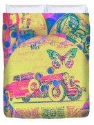 Crafty Car Commercial Duvet Cover