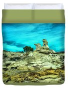Crazy Rock Formations In New Mexico Duvet Cover