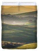 Crete Senesi Landscape In Tuscany Duvet Cover by Helga Koehrer-Wagner