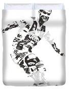 Cristiano Ronaldo Juventus Pixel Art 1 Duvet Cover