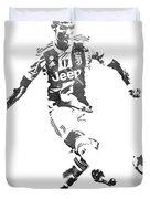 Cristiano Ronaldo Juventus Water Color Pixel Art 1 Duvet Cover