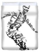 Cristiano Ronaldo Juventus Water Color Pixel Art 3 Duvet Cover
