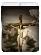 Crucifix And Hope Duvet Cover