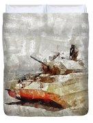 Crusader Tank, World War Two Duvet Cover