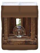 Crystal Ball In Wooden Lanterns Duvet Cover