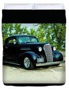 Custom 1937 Chevrolet Coupe Duvet Cover