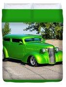 Custom 1938 Chevrolet 2 Door Coach  Duvet Cover