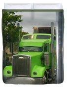Custom Green Boca Duvet Cover