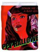 Custom Halloween Card She-devil Duvet Cover