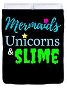 Cute Mermicorn Unicorn Mermaid Slime Birthday Duvet Cover