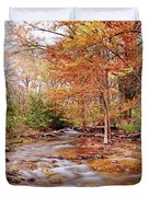Cypress Creek As It Exits Blue Hole Regional Park In Wimberley, Hays County Texas Hill Country Duvet Cover
