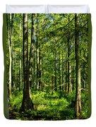 Cypress Trees Duvet Cover