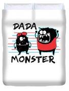 Dada Monster Cute Monster Cartoon For Kids And Dad Light Duvet Cover