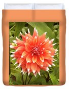Dahlia Bloom Flower Duvet Cover