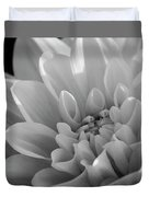 Dahlia In Monochrome Duvet Cover