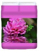 Dahlia On Water Duvet Cover