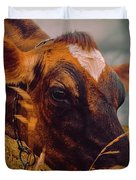 Dairy Cow Eating Grass Duvet Cover