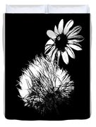 Daisy And Thistle Black And White Duvet Cover