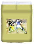 Dallas Cowboys Against Green Bay Packers. Duvet Cover