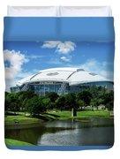 Dallas Cowboys Att Stadium Arlington Texas Duvet Cover by Robert Bellomy