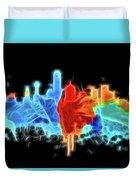 Dallas Neon Color Blast Duvet Cover
