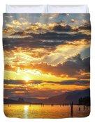 Dalton Point Sunrise Duvet Cover