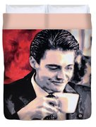 Damn Fine Cup Of Coffee Duvet Cover