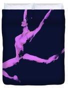 Dancer In The Dark Blue Duvet Cover