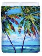Dancing Palm Duvet Cover