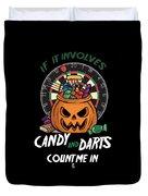 Darts Dart Pumpkin Jack O Lantern Halloween Duvet Cover