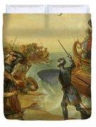 Debarquement De Saint Louis, A Damiette En Egypte, 1249 Duvet Cover