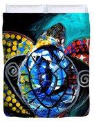 Deep Sea Sea Turtle Duvet Cover
