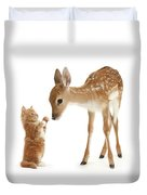 Deer Little Friend Duvet Cover