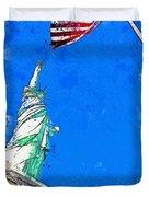 Defending Liberty Watercolor By Ahmet Asar Duvet Cover