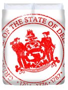 Delaware Seal Stamp Duvet Cover