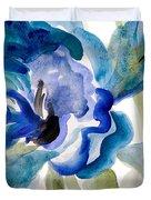Delicate Blue Square I    Duvet Cover
