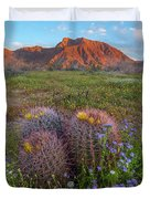 Desert Bluebell In Spring With Barrel Duvet Cover