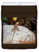 Desert Spiny Lizard H1809 Duvet Cover by Mark Myhaver