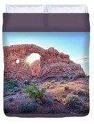 Desert Sunset Arches National Park Duvet Cover