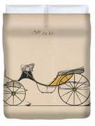 Design For Cabriolet Or Victoria, No. 3221 Brewster And Co. American, New York Duvet Cover