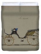 Design For Cabriolet Or Victoria, No. 3558  1879 Duvet Cover