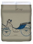 Design For Cabriolet Or Victoria, No. 3719 Brewster And Co. American, New York Duvet Cover