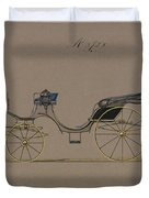 Design For Cabriolet Or Victoria, No. 3723  1881 Duvet Cover