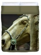 Details Of Head Of Horse From Terra Cotta Warriors, Xian, China Duvet Cover